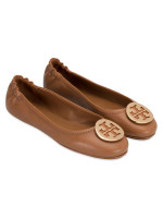 TORY BURCH Minnie Travel Flats Royal Tan Sz 6.5