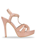 STEVE MADDEN Kadri Patent Leather Heels Nude Sz 7