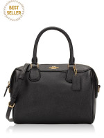 COACH 32202 Crossgrain Mini Bennett Satchel Black