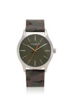COACH Men 14602369 Baxter Leather Strap Green Camo