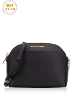 MICHAEL KORS Emmy Saffiano Medium Crossbody Black