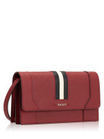 BALLY Stafford Saffiano Crossbody Red