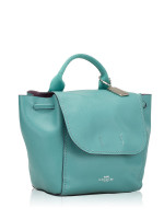 COACH 59819 Derby Leather Backpack Blue Green