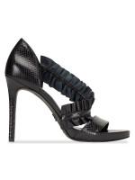 MICHAEL KORS Bella Leather Heels Black Sz 7