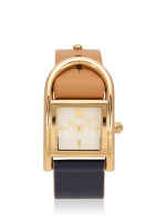 TORY BURCH TBW7500 Thayer Leather Strap Navy