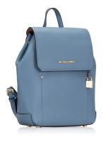 MICHAEL KORS Hayes Leather Medium Backpack Denim Dark Khaki