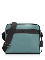 COACH Men 26077 Colorblock Charles Camera Bag Slate Black