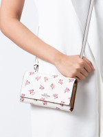 COACH 28328 Boxed Phone Mini Crossbody Chalk Floral Bloom