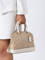 COACH 27583 Signature Mini Sierra Satchel Light Khaki Chalk