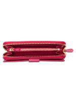 PRADA 1ML348 Vitello Move Zip Wallet Peonia