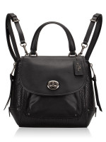 COACH 30525 Mixed Leather Faye Backpack Black