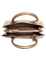 MICHAEL KORS Mercer Star Perforated Leather Medium Messenger Gold