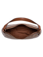 COACH 29209 Signature Zip Shoulder Bag Khaki Saddle