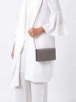 GUCCI GG Interlocking Leather WOC Grey