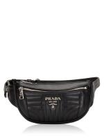 PRADA 1BL008 Soft Calf Impuntu Belt Bag Nero