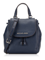 MICHAEL KORS Riley Leather Small Flap Pack Crossbody Navy