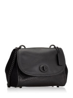 COACH 22349 Mixed Faye Leather Crossbody Black