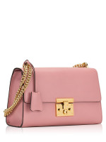 GUCCI Padlock Medium Leather Shoulder Bag Pink