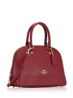 COACH 27591 Crossgrain Mini Sierra Satchel Cherry