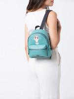 COACH 28488 Mini Charlie Sundae Leather Backpack Blue Green