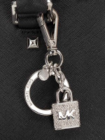 MICHAEL KORS Pave Lock And Key Charms Clear
