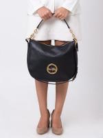 COACH 31400 Pebbled Leather Elle Hobo Black