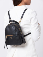 COACH 30530 Pebbled Leather Andi Backpack Black