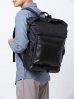 COACH Men 24676 Terrain Roll Top Backpack Black