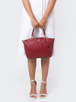 COACH 28993 Pebbled Leather Small Kelsey Cherry