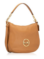 COACH 31400 Pebbled Leather Elle Hobo Light Saddle