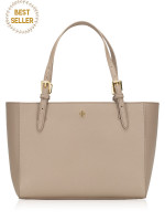 TORY BURCH Emerson Small Buckle Tote French Grey