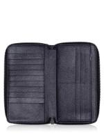 COACH Men 59120 Crossgrain Travel Zip Wallet Black