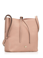 MICHAEL KORS Junie Leather Large Messenger Fawn