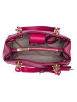 MICHAEL KORS Cynthia Small Leather Satchel Ultra Pink