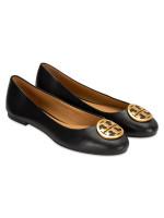 TORY BURCH Benton Leather Flats Perfect Black Sz 6