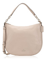 COACH 33000 Pebbled Leather Cassidy Hobo Grey Birch