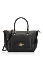 COACH 31466 Pebbled Leather Mini Ema Satchel Black