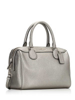 COACH 39706 Metallic Crossgrain Mini Bennett Gunmetal