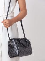 COACH 39557 Metallic Signature Mini Bennett Gunmetal