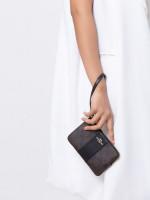 COACH 58035 Signature Small Wristlet Brown Black