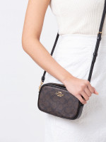 COACH 39657 Signature Belt Bag Set Brown Black