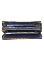 COACH 23334 Crossgrain Double Zip Travel Wallet Denim