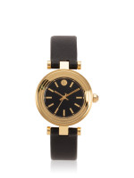 TORY BURCH TBW9007 Classic T Leather Strap Black