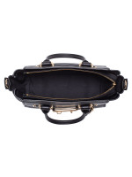 COACH 87295 Swagger 27 Pebble Leather Carryall Black