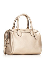 COACH 39706 Metallic Crossgrain Mini Bennett Platinum