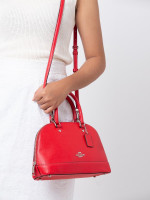 COACH 27591 Crossgrain Mini Sierra Poppy Red