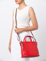 FOSSIL SHB1967622 Felicity Leather Satchel Real Red