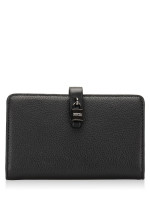 MICHAEL KORS Adele Leather Slim Bifold Black