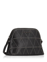 MICHAEL KORS Adele Stud Medium Dome Crossbody Black