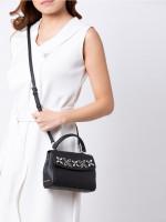 MICHAEL KORS Ava Xs Jewel Top Handle Crossbody Black Silver